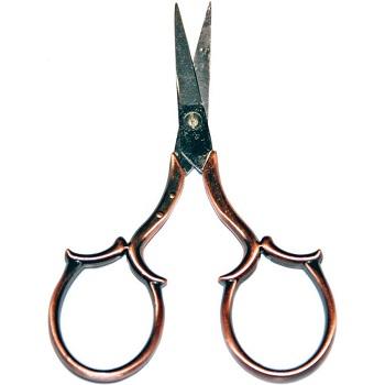 Sullivans Heirloom Embroidery Scissors Leaf Handle 4-COPPER