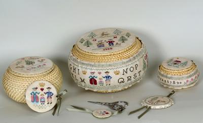 Giulia Punti Antici 3 Baskets Stitcher's Sewing Set