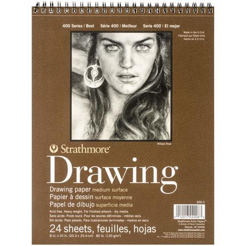 Strathmore Medium Drawing Spiral Paper Pad 8X10 24 Sheets