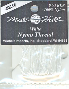 White nymo thread by Mill Hill