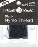 Black nymo thread by Mill Hill