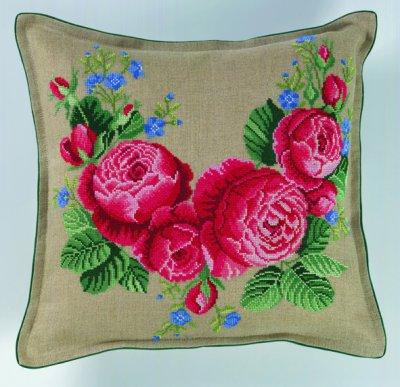 Roses Pillow by Eva Rosenstand
