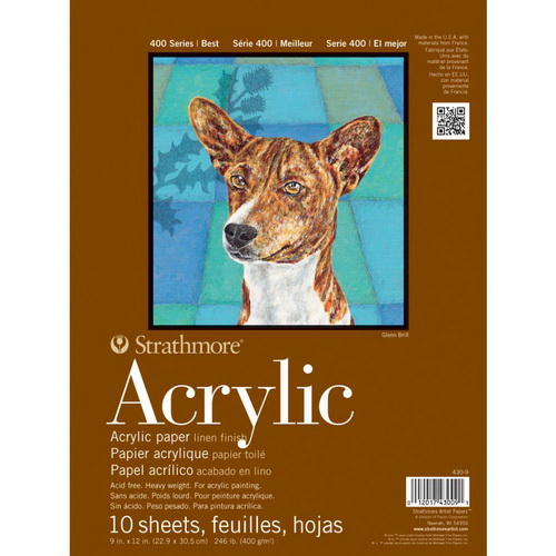 Strathmore Acrylic Paper Pad 9X12 10 Sheets