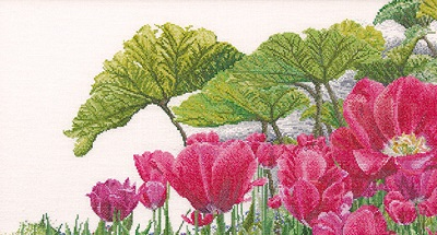 Tulips garden detail by Thea Gouverneur