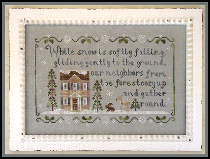 Country Cottage Needleworks Forest snowfall