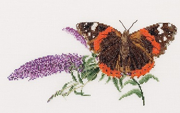 Butterfly and Flowers by Thea Gouverneur