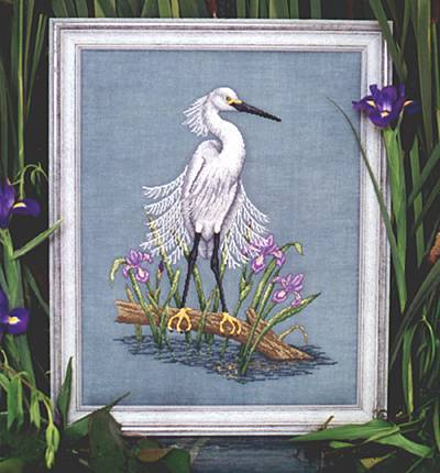 Crossed Wing Collection Snowy Egret