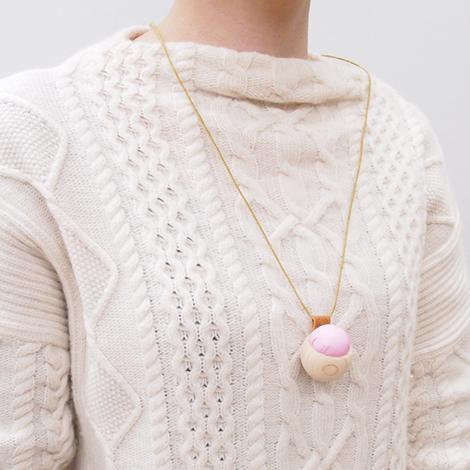 Pincushions of Cypress and Banshu Textile (Pink)