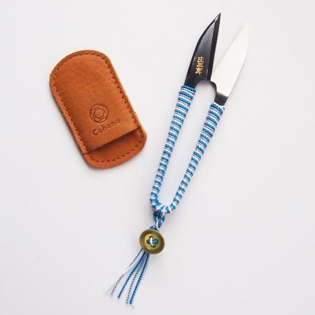 Shozaburo Thread Snips with Silk Iga Braid (Blue)
