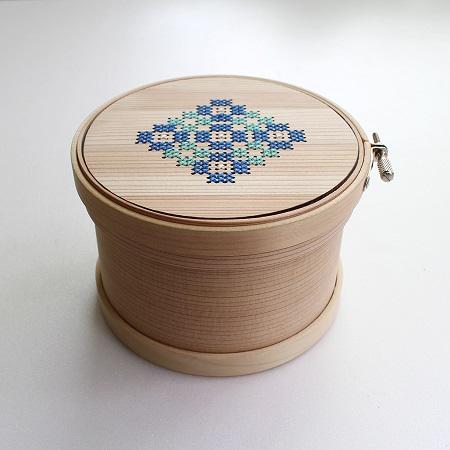 Magewappa Embroidery Hoop Toolbox (Green & Blue 12cm)