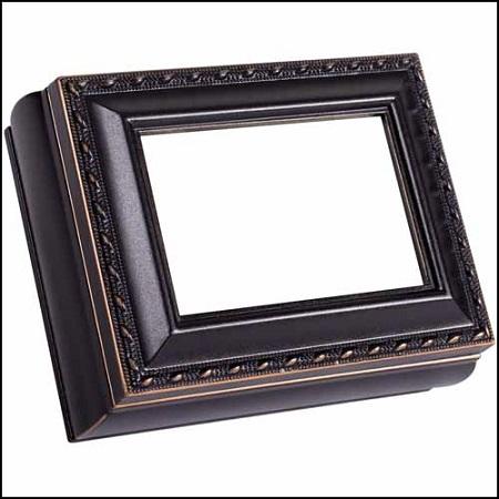 Black Rectangular Treasure Box