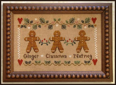 Gingerbread trio by Little House Needleworks