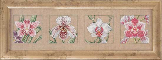 Four orchids by Permin