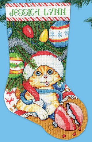 Kitten stocking, 5198,Design Works