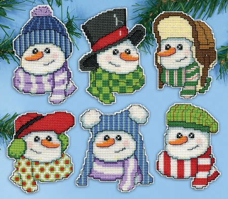 Snowmen in hats,5919,by Design Works