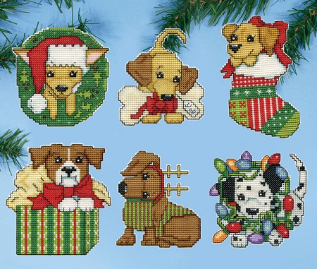 Christmas pups,5920,by Design Works