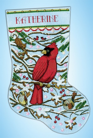 Cardinal stocking,5925,Design Works