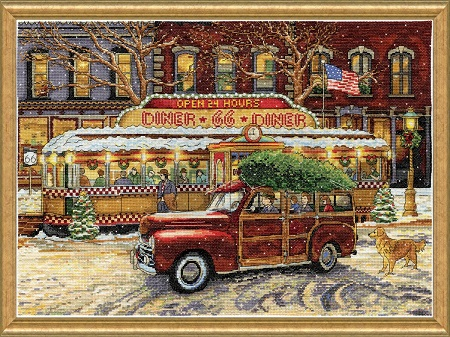 Route 66 Christmas dinner, 5926,Design Works