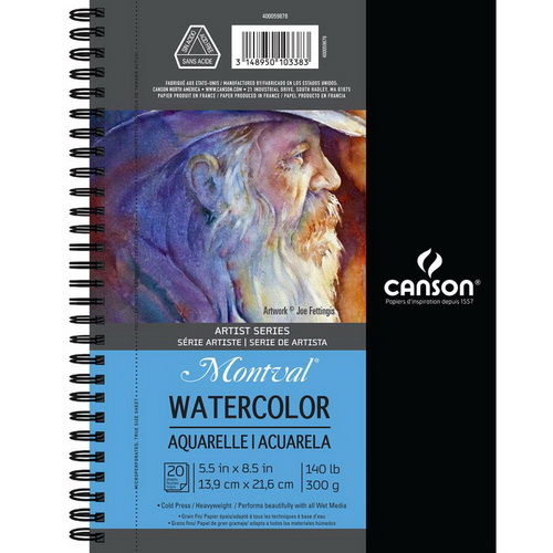 "Canson Watercolor Pad 5.5""X8.5"" 20 Sheets"