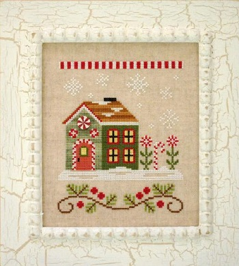 Country Cottage Needleworks Candy Cane cottage
