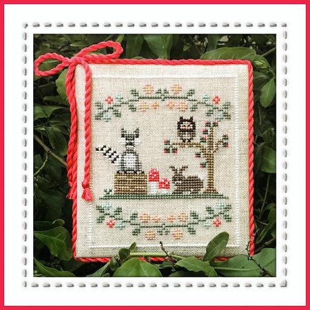 Forest Raccoon and friends by Country Cottage Needlework