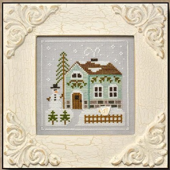 Snowman's Cottage by Country Cottage Needleworks