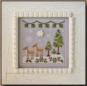 Snowy Deer by Country Cottage Needleworks