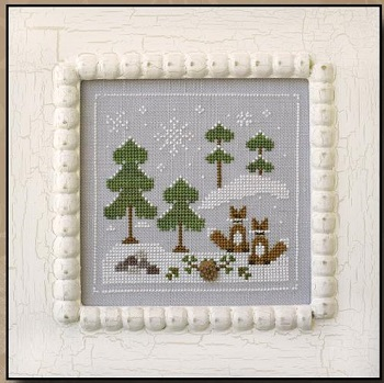 Snowy Foxes by Country Cottage Needleworks