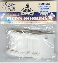 Plastic bobbins by DMC