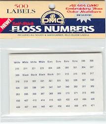 Floss number sticker packs