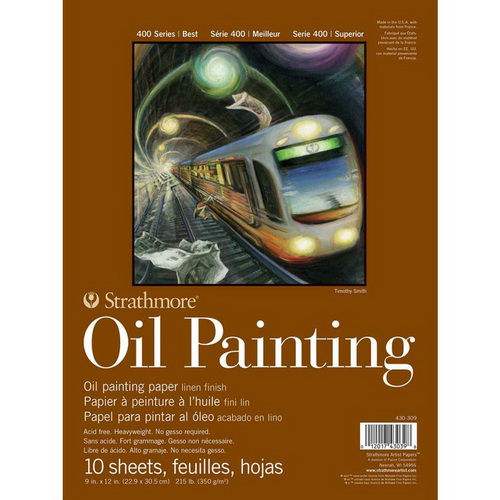 Strathmore 400 Series Oil Painting Pad 9X12 10 Sheets