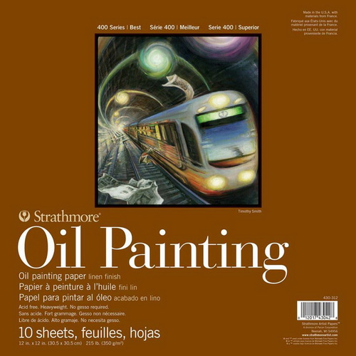 Strathmore 400 Series Oil Painting Pad 12X12 10 Sheets