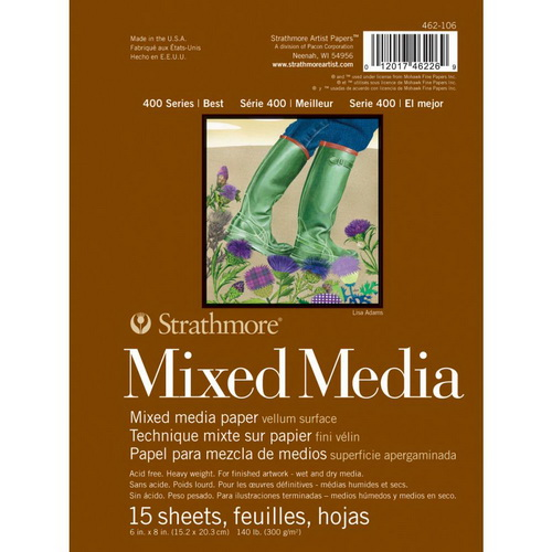 Strathmore Mixed Media Vellum Paper Pad 6X8 15 Sheets