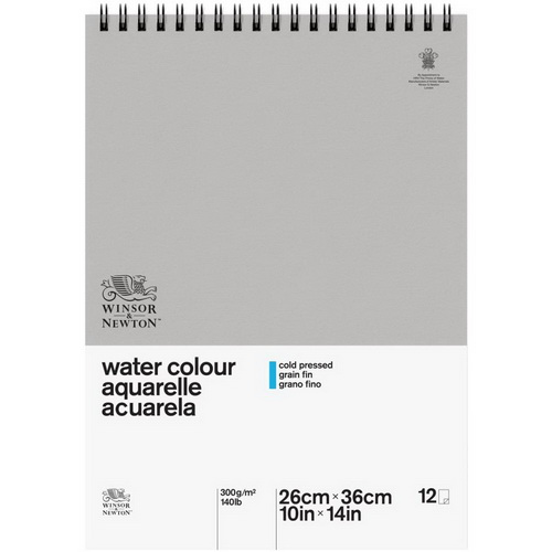 Winsor & Newton Classic Water Colour Spiral Paper Pad 10X14