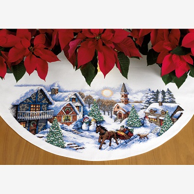 Sleigh Ride Tree Skirt-70-08830- by Dimensions