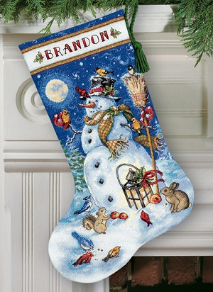 Snowman & Friends Stocking-70-08839- by Dimensions