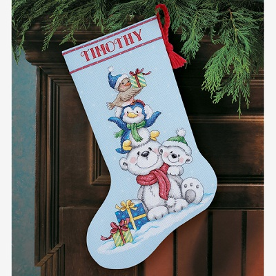 Stack of Critters Stocking-70-08840- by Dimensions