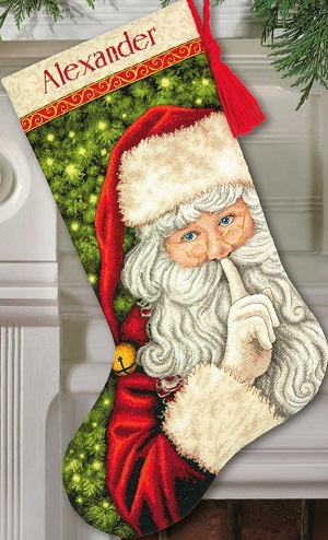 Secret Santa stocking,70-08938,Dimensions