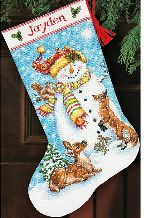Winter friends stocking,70-08963,Dimensios