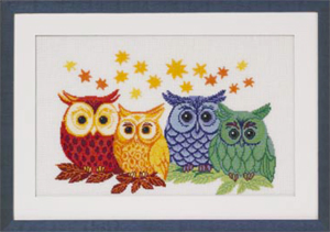 Colored owls by Permin