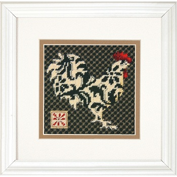 Black and White Rooster-71-07236- by Dimensions