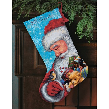 Santa and Toys Stocking-71-09145- by Dimensions