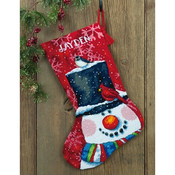 Snowman and Friends Stocking-71-09146- by Dimensions