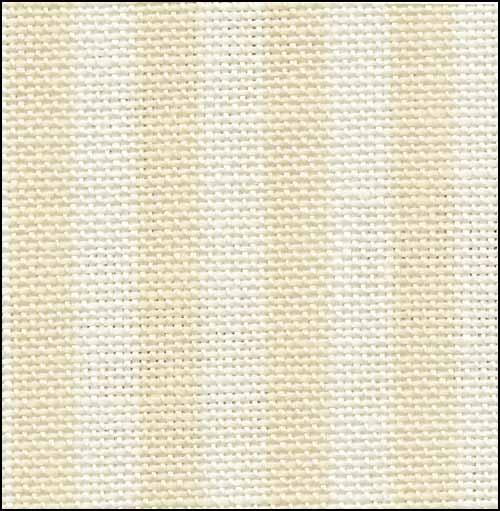 Fabric Flair Parisian Neutral Stripe 32ct Linen