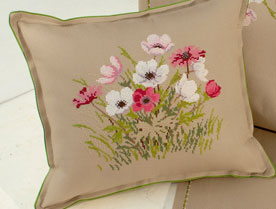 Eva Rosenstand Cushion with flowers (Cosmos)