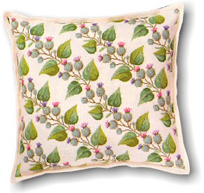 Thistles Pillow by Eva Rosenstand