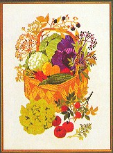 Vegetables & Herbs in a Basket by Eva Rosenstand