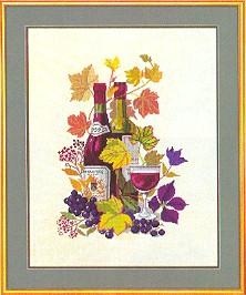 Wine motif III by Eva Rosenstand
