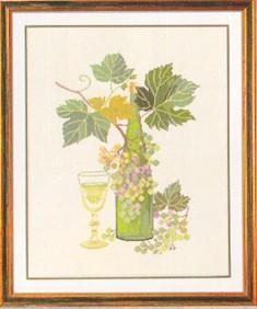 Wine motif II by Eva Rosenstand