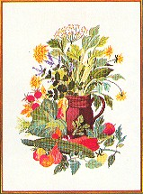Vegetables & Herbs in a Pitcher by Eva Rosenstand